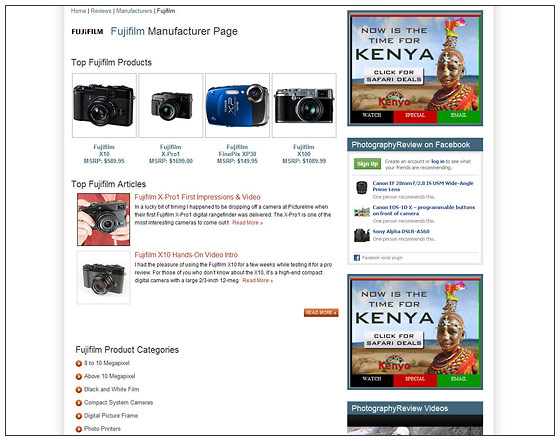 PhotographyREVIEW.com - New Manufacturer Review Page