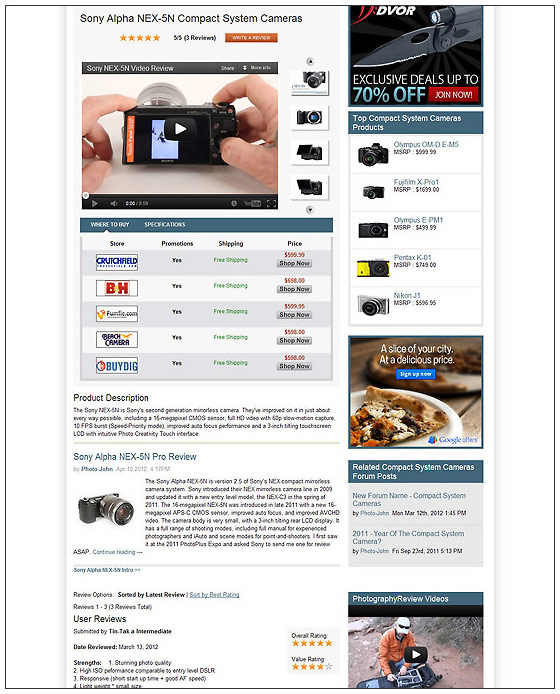 PhotographyREVIEW.com - New, Improved Product Review Pages