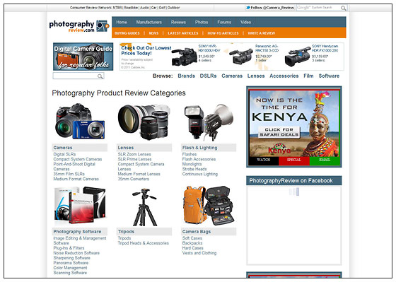 PhotographyREVIEW.com - New Reviews Index Page