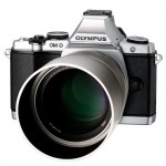 New Olympus 75mm f/1.8 Micro Four Thirds Lens With Hood On OM-D E-M5