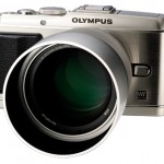 New Olympus 75mm f/1.8 Micro Four Thirds Lens With Hood On E-P3 Pen