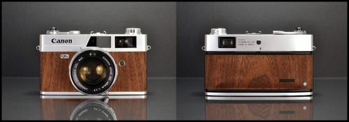 Restored Mahogany Canonet Rangefinder - Front & Back