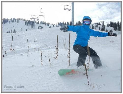 Nikon Coolpix AW100 - Snowboard Action