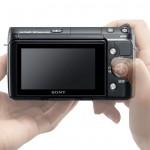 Sony Alpha NEX-F3 - Rear LCD - In Hands