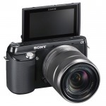 Sony Alpha NEX-F3 - Tilting Rear LCD In Self-Portrait Position