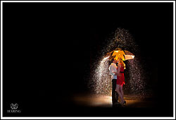 Engagement in the Dark  - by wedding photographer