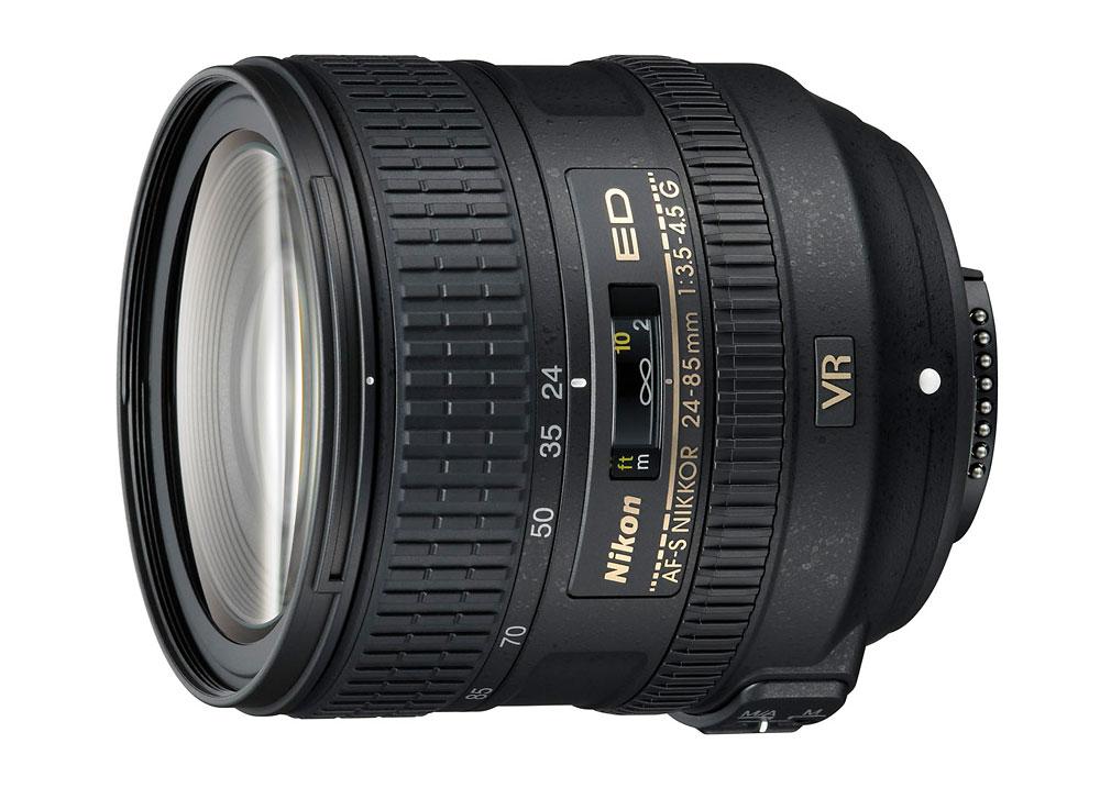 Nikon AF-S Nikkor 24-85mm f/3.5-4.5G ED VR FX-Format Standard Zoom Lens