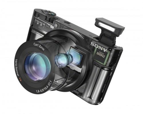 Sony CyberShot RX100 - Transparent View