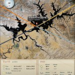 The Photographer's Ephemeris iPad App - Lake Powell Screenshot