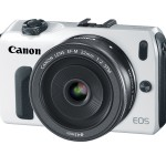 The Canon EOS M Mirrorless Camera & 22mm f/2.0 Lens - White