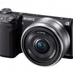 Sony Alpha NEX-5R Mirrorless Camera - Angle View With 26mm f/2.8 Lens
