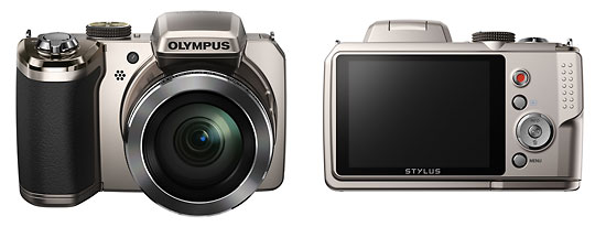 Olympus Stylus SP-820UZ iHS 40x Compact Superzoom Camera - Front & Back