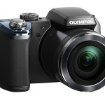 Olympus Stylus SP-820UZ iHS Superzoom Camera - Black - Front Right