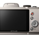 Olympus Stylus SP-820UZ iHS Superzoom Camera - Rear LCD Display - Silver