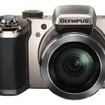 Olympus Stylus SP-820UZ iHS 40x Superzoom Camera - Silver - Front