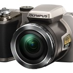 Olympus Stylus SP-820UZ iHS Superzoom Camera - Silver - Front Left