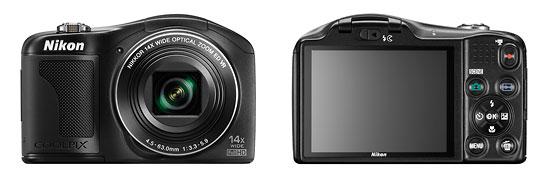 Nikon Coolpix L610 Compact Superzoom Camera - Front & Back