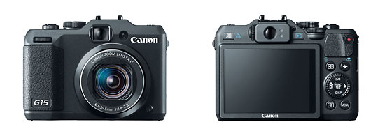 Canon PowerShot G15 High-End Compact Camera - Front & Back