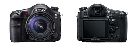 Sony Alpha SLT-A99 Full-Frame DSLR - Front & Back