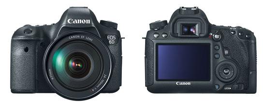 Canon EOS 6D Full-Frame Digital SLR - Front & Back