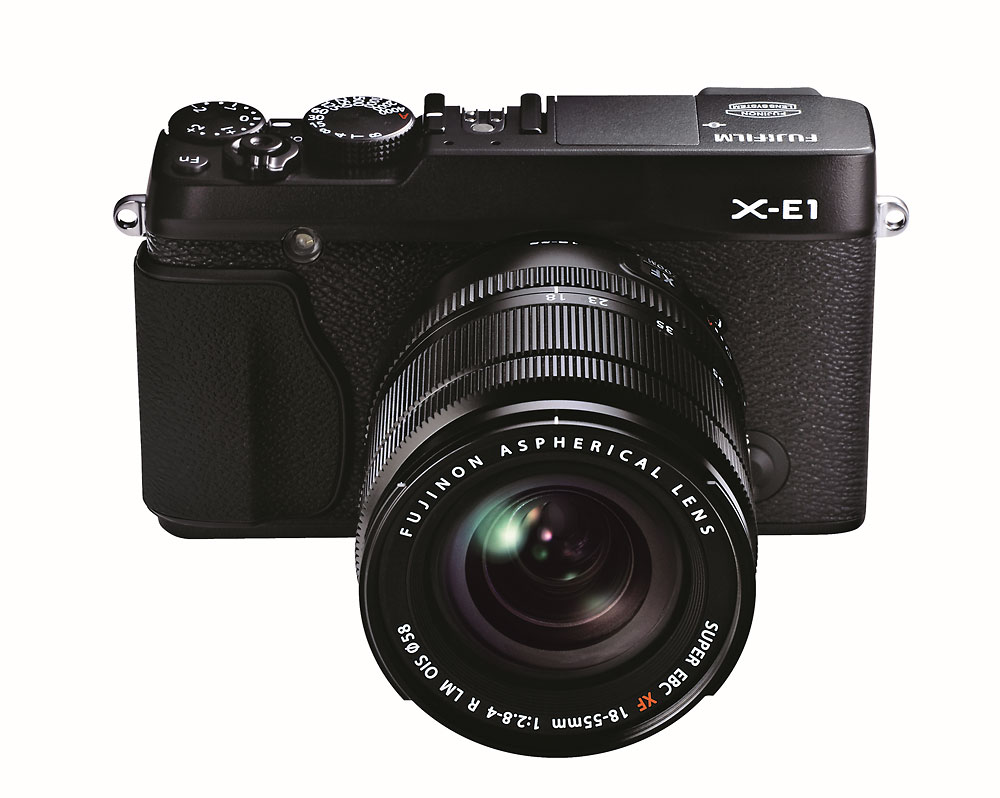 Fujifilm X-E1 With New XF18-55mm Zoom Lens - Black