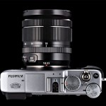 Fujifilm X-E1 - Top View With XF18-55mm Zoom Lens