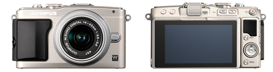 Olympus E-PL5 Pen Camera - Front & Back