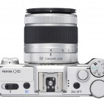 Pentax Q10 - Top View With New 15-45mm f/2.8 Telephoto Zoom Lens - Silver
