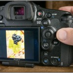 Sony A99 DSLR - Rear View With Hand