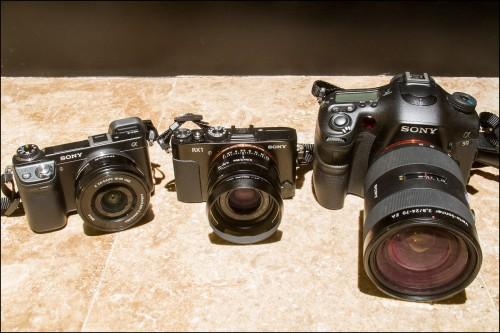 Sony NEX-6, RX1 and A99 Cameras