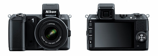 Nikon 1 V2 Mirrorless Camera - Front & Back