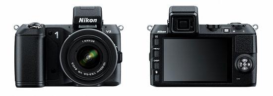 Nikon 1 V2 Mirrorless Camera - Front & Back