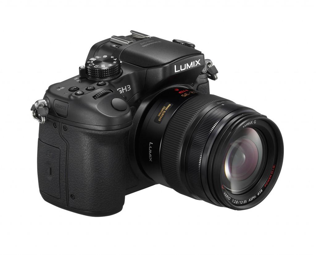 Panasonic Lumix GH3 Micro Four Thirds Camera - Front Left