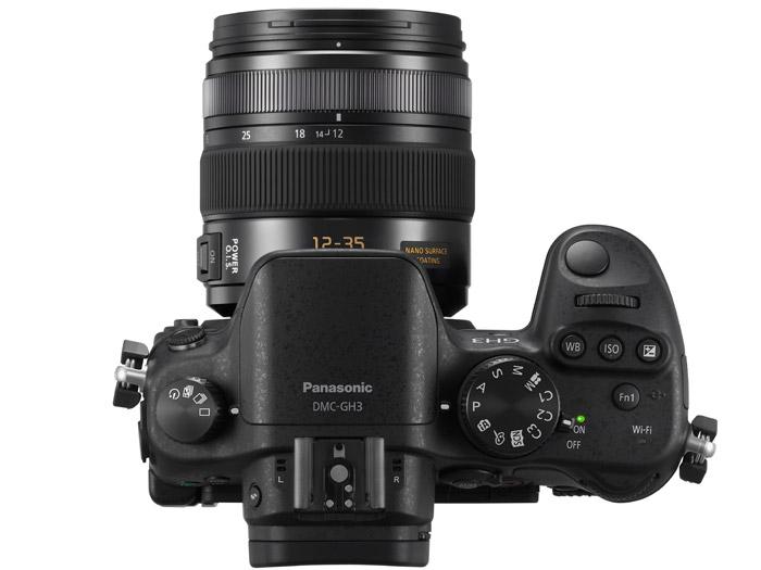 Panasonic Lumix GH3 - Top View