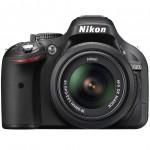 Nikon D5200 Digital SLR - Front - Black
