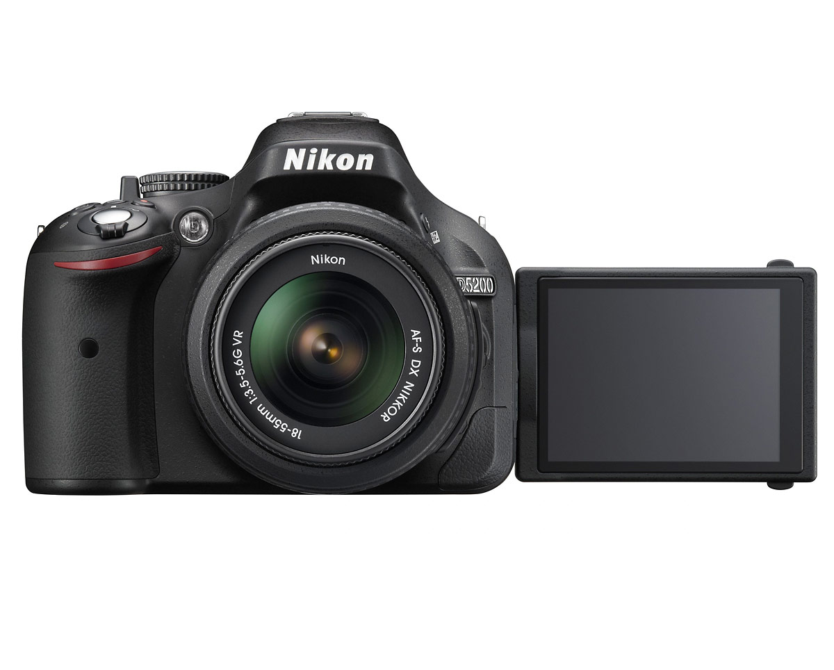 Nikon D5200 Digital SLR - Front With LCD Out