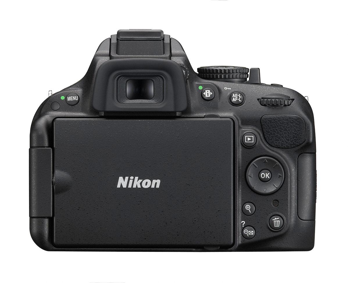 Nikon D5200 Digital SLR - Rear View - LCD Closed