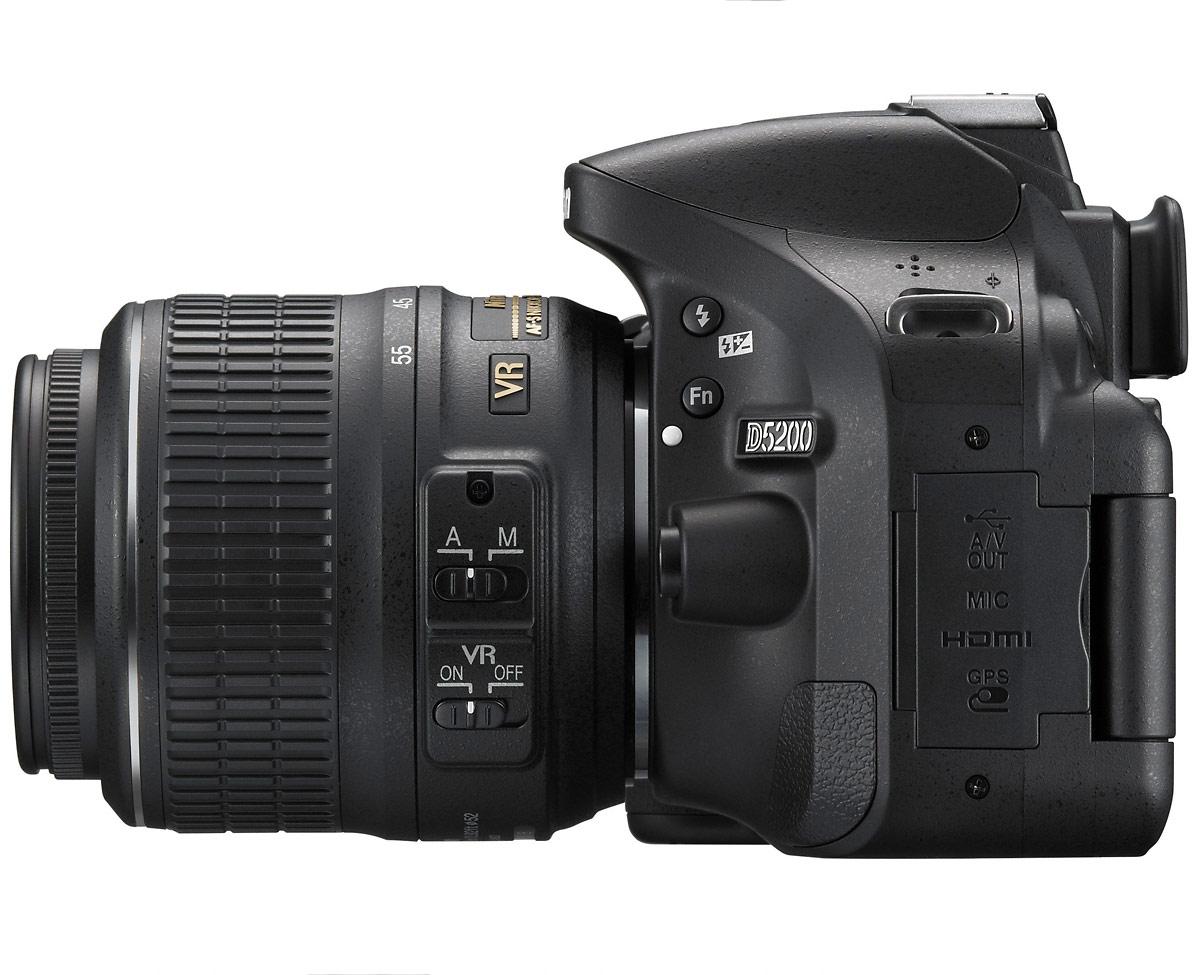Nikon D5200 Digital SLR - Left Side