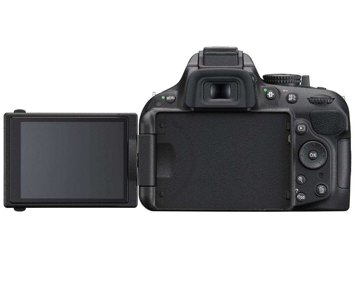 Nikon D5200 Digital SLR - Back - LCD Out