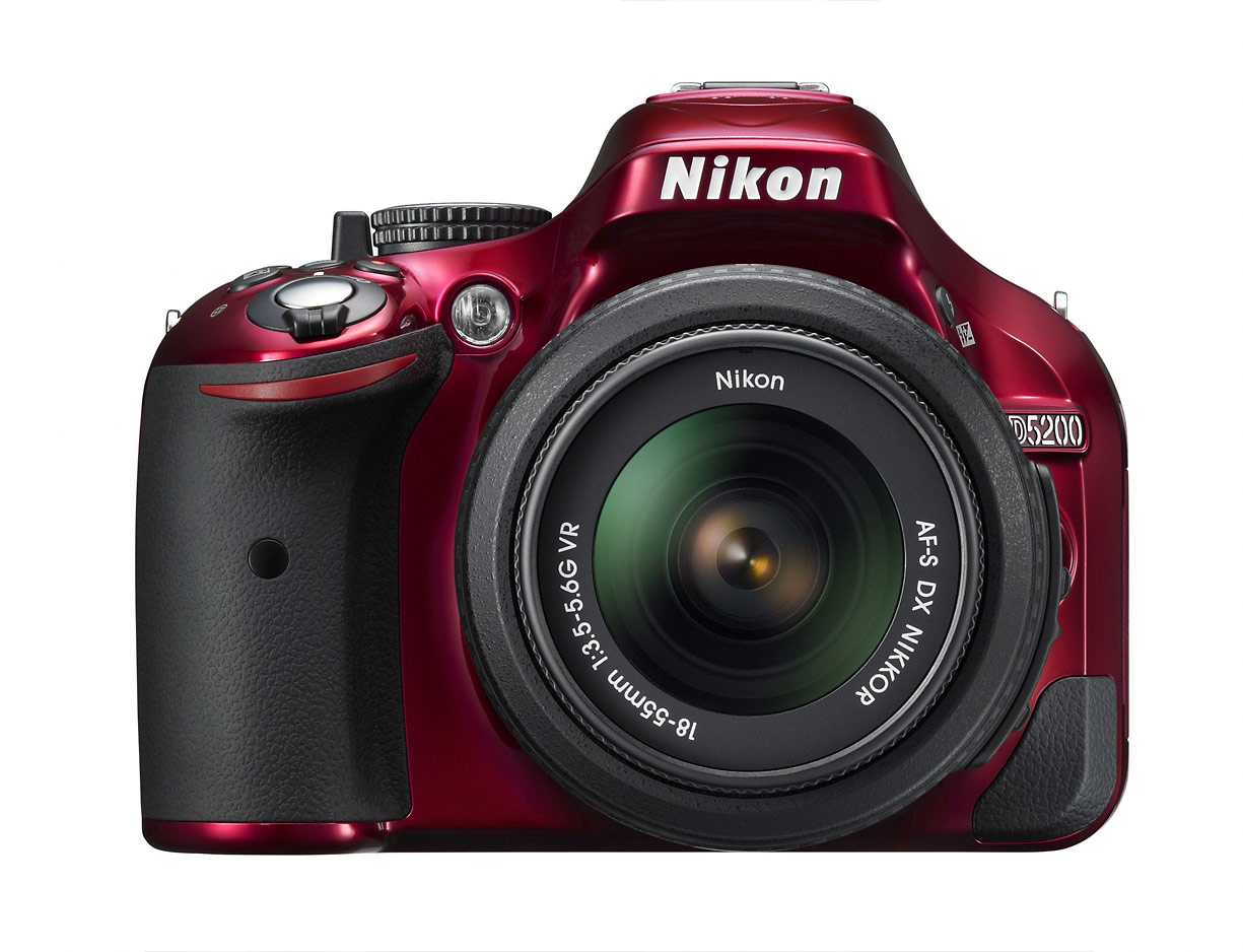 Nikon D5200 Digital SLR - Red
