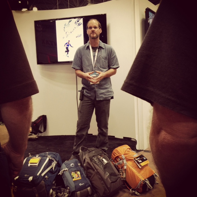 Photographer Dan Bailey, Speaking At The 2012 PhotoPlus Expo Lowepro Booth