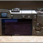 Sony Alpha NEX-6 - Rear View With LCD Display & Electronic Viewfinder