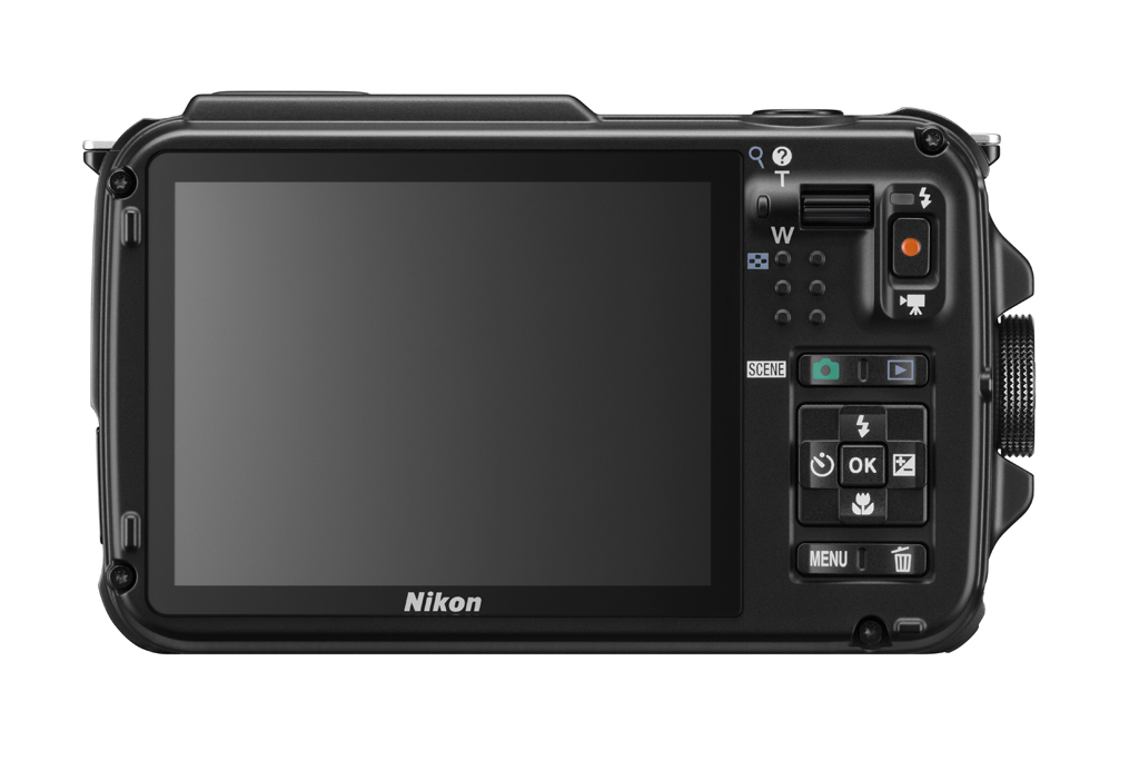 Nikon Coolpix AW110 - Rear With New OLED Display