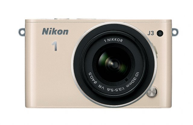 Nikon 1 J3 Mirrorless Camera - Front - Beige