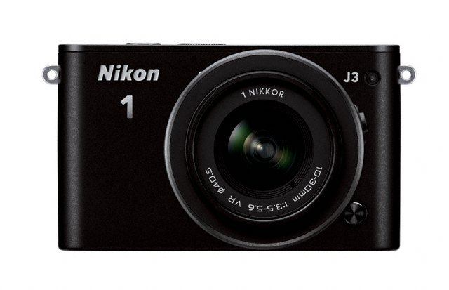 Nikon 1 J3 Mirrorless Camera - Front - Black