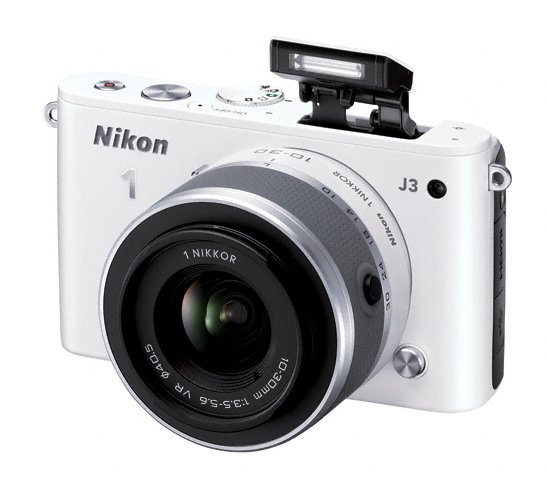 Nikon 1 J3 Mirrorless Camera - Bounceable Pop-Up Flash