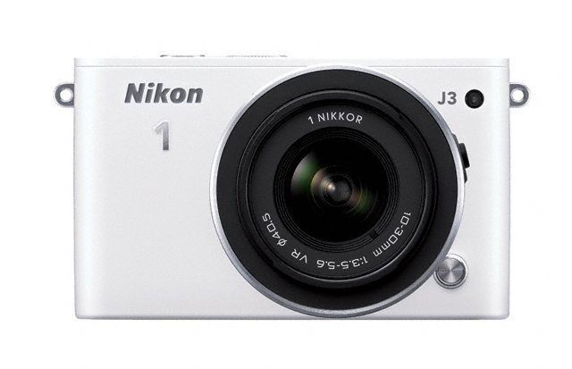 Nikon 1 J3 Mirrorless Camera - Front - White