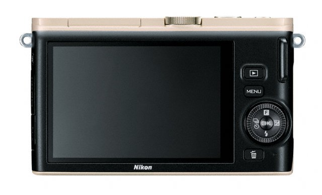 Nikon 1 J3 Mirrorless Camera - Rear LCD - Beige