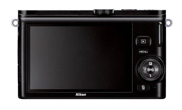 Nikon 1 J3 Mirrorless Camera - Rear LCD Display - Black