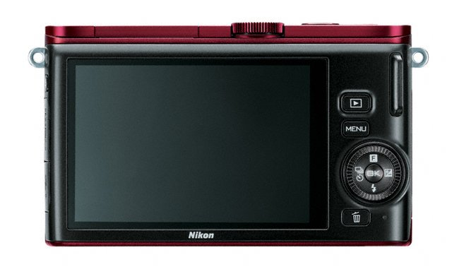 Nikon 1 J3 - Rear - Burgundy